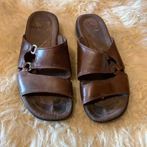 Leather Earth mules